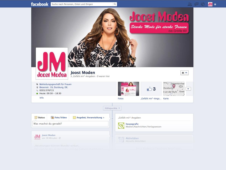 Joost Moden bei facebook