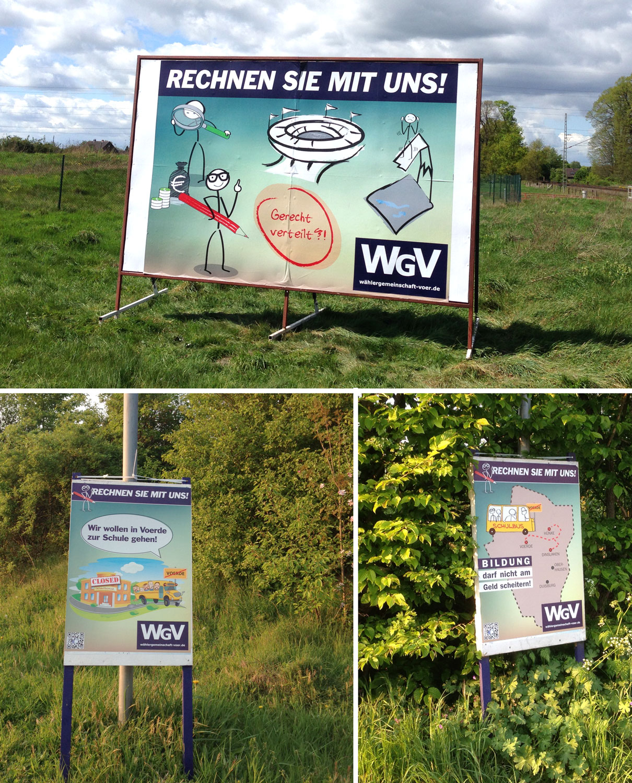 Wahlplakate mit einem wichtigen Anliegen!