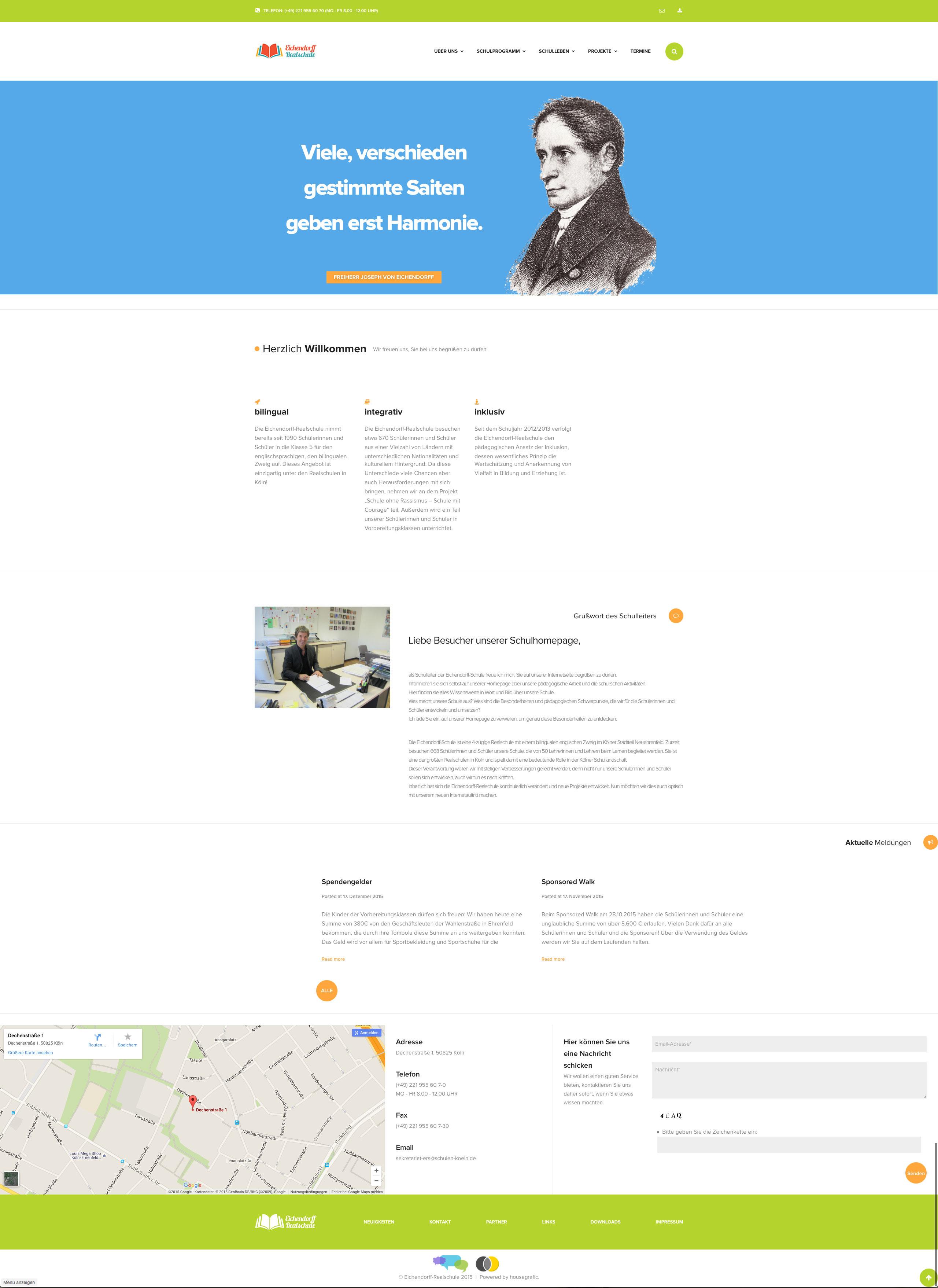 Relaunch des Internetauftritts der Eichendorff Realschule Köln