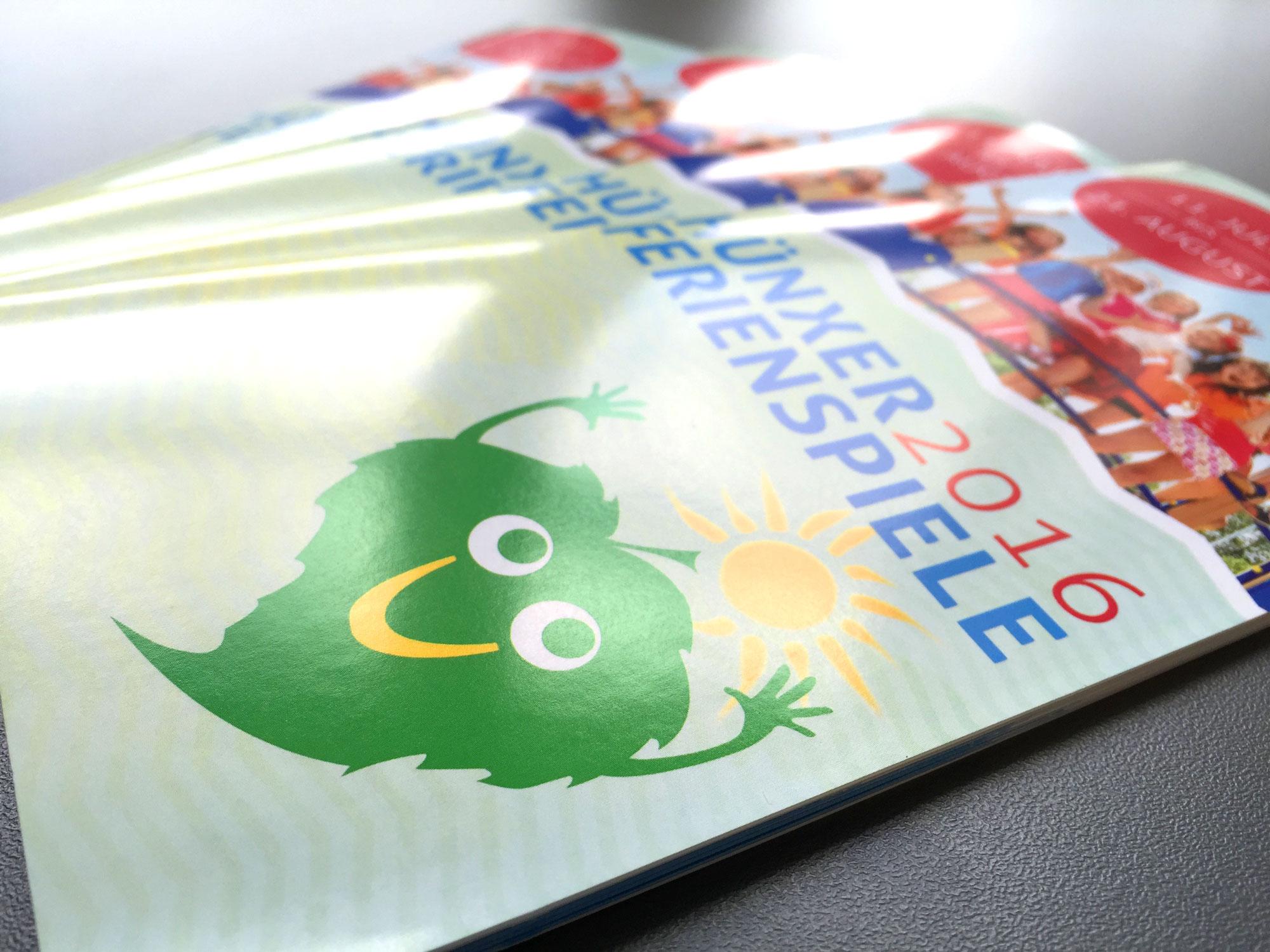 Hünxer Ferienspiele 2016 Mehrseifer Broschüre Drahtgeheftet