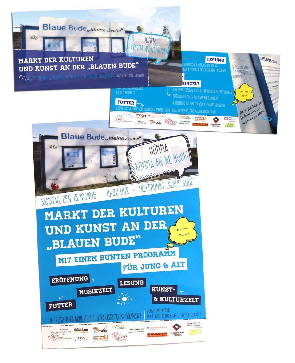 Flyer Poster Blaue Bude Lohberg