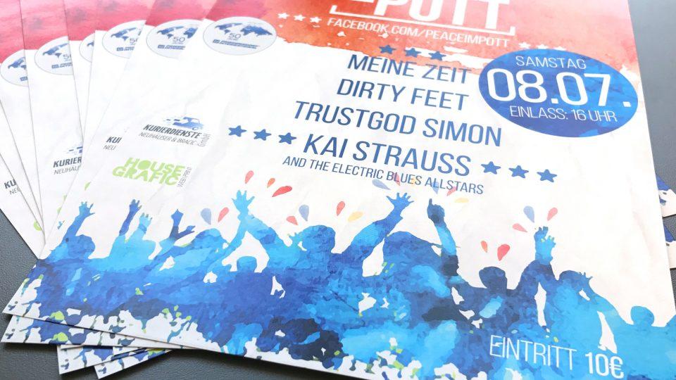 Peace im Pott Poster