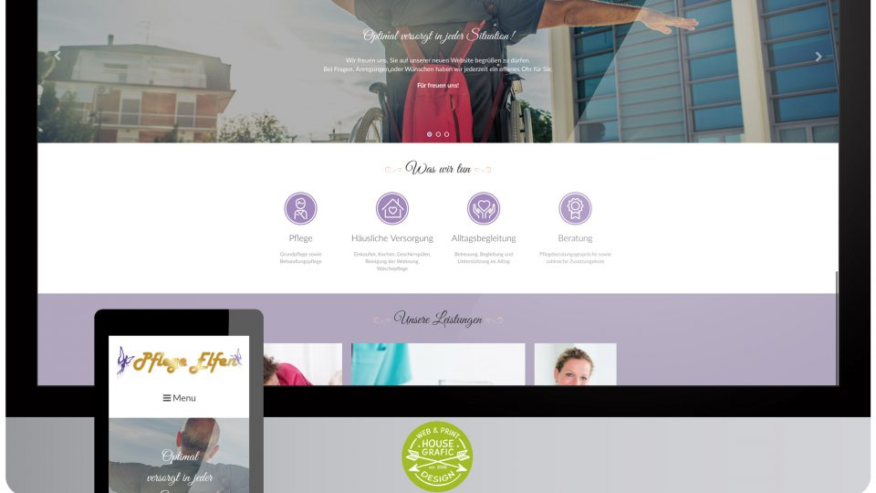 Homepage Pflege Elfen